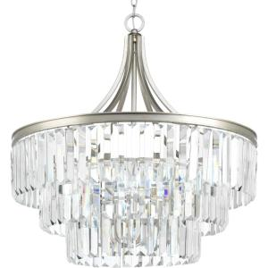 Glimmer - Close-to-Ceiling Light - 6 Light in Luxe and New Traditional and Transitional style - 28 Inches wide by 29.25 Inches high