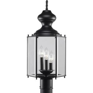 BrassGUARD Lantern - Outdoor Light - 3 Light in Traditional style - 9.75 Inches wide by 21.31 Inches high