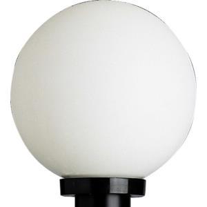 Acrylic Globe - One Light Outdoor Post Lantern