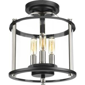 Squire - Outdoor Light - 3 Light - Curved Panels Shade in New Traditional and Transitional style - 9.88 Inches wide by 11 Inches high