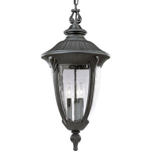 Meridian - Outdoor Light - 3 Light - Urn Shade in New Traditional style - 12 Inches wide by 24.38 Inches high