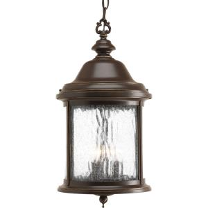 Ashmore - Outdoor Light - 3 Light - Curved Panels Shade in New Traditional and Transitional style - 9.63 Inches wide by 17.75 Inches high