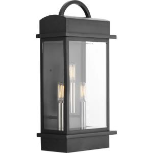 Santee - Outdoor Light - 3 Light in Farmhouse style - 9.5 Inches wide by 19.63 Inches high