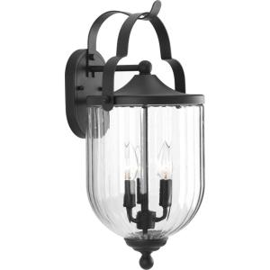 McPherson - 20 Inch Height - Outdoor Light - 3 Light - Globe Shade - Line Voltage - Wet Rated