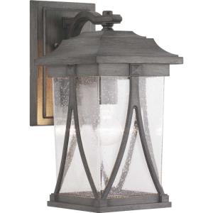 Abbott - Outdoor Light - 1 Light - Square Shade in Modern Craftsman and Transitional style - 8.25 Inches wide by 16.25 Inches high