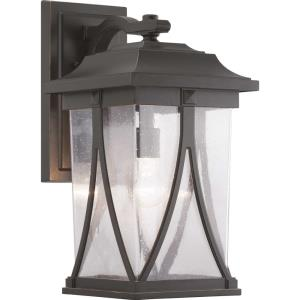 Abbott - Outdoor Light - 1 Light - Square Shade in Modern Craftsman and Transitional style - 10.38 Inches wide by 20.25 Inches high