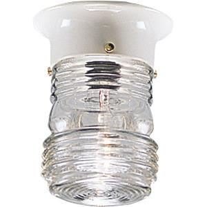 Utility - One Light Outdoor Flush Mount