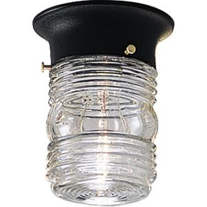 Utility - One Light Flush Mount
