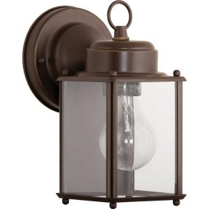 Flat Glass Lantern - Outdoor Light - 1 Light in Traditional style - 4.56 Inches wide by 8.63 Inches high