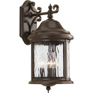 Ashmore - Outdoor Light - 3 Light - Curved Panels Shade in New Traditional and Transitional style - 8.38 Inches wide by 16.5 Inches high
