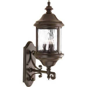 Ashmore - 26.5 Inch Height - Outdoor Light - 3 Light - Curved Panels Shade - Line Voltage - Wet Rated