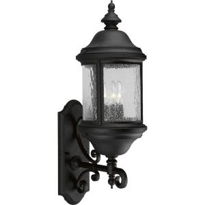 Ashmore - Outdoor Light - 3 Light - Curved Panels Shade in New Traditional and Transitional style - 8.38 Inches wide by 26.25 Inches high
