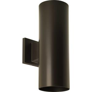 """Cylinder - 14"""" 34W 2 LED Outdoor Wall Bracket"""