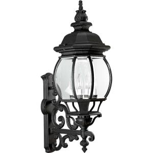 Onion Lantern - Outdoor Light - 4 Light - Curved Panels Shade in Traditional style - 11.13 Inches wide by 31 Inches high