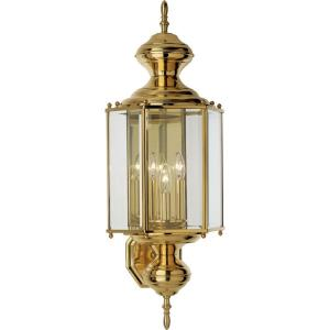 BrassGUARD Lantern - Outdoor Light - 3 Light in Traditional style - 9.75 Inches wide by 25.38 Inches high