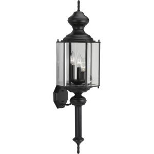 BrassGUARD Lantern - Outdoor Light - 3 Light in Traditional style - 9.75 Inches wide by 33.25 Inches high