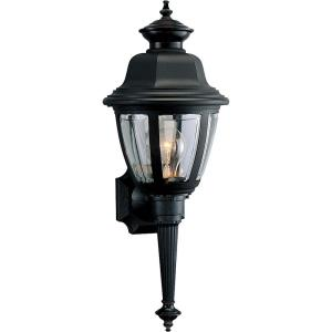 Non-Metallic Incandescent - 21 Inch Height - Outdoor Light - 1 Light - Curved Panels Shade - Line Voltage - Wet Rated