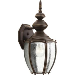 Roman Coach - Outdoor Light - 1 Light - Curved Panels Shade in Traditional style - 7 Inches wide by 15.25 Inches high