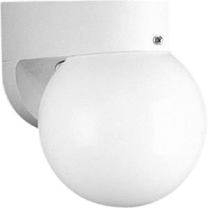 Polycarbonate Outdoor - 7.75 Inch Height - Outdoor Light - 1 Light - Globe Shade - Line Voltage - Wet Rated