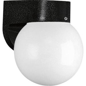 Polycarbonate Outdoor - Outdoor Light - 1 Light - Globe Shade in Modern style - 6 Inches wide by 7.75 Inches high