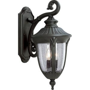 Meridian - Outdoor Light - 2 Light - Urn Shade in New Traditional style - 9 Inches wide by 20.25 Inches high