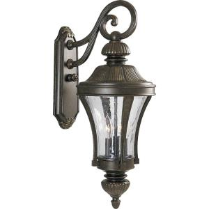 Nottington - Outdoor Light - 3 Light in New Traditional style - 10 Inches wide by 26 Inches high