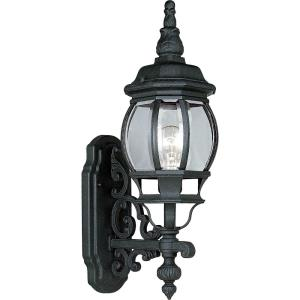 Onion Lantern - Outdoor Light - 1 Light - Curved Panels Shade in Traditional style - 6.5 Inches wide by 21.25 Inches high