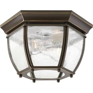 Roman Coach - Outdoor Light - 2 Light - Curved Panels Shade in Traditional style - 11 Inches wide by 6.19 Inches high