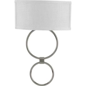 LED Shaded Sconce - Wall Brackets Light - 1 Light in Mid-Century Modern style - 14 Inches wide by 21.25 Inches high
