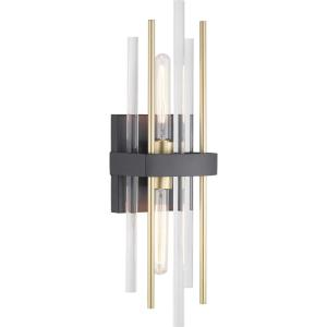 Orrizo - Wall Sconces Light - 2 Light in Luxe and Modern style - 6.38 Inches wide by 23 Inches high