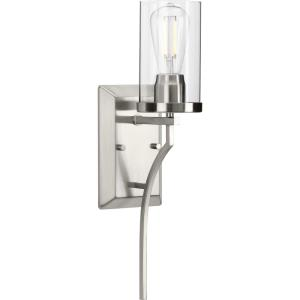 Lassiter - 19.25 Inch Height - Wall Brackets Light - 1 Light - Cylinder Shade - Line Voltage - Damp Rated