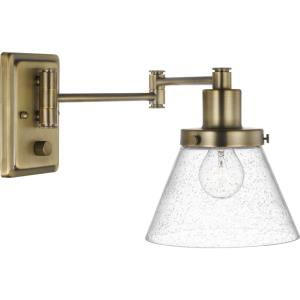 Hinton - Wall Brackets Light - 1 Light - Cone Shade in Coastal style - 8 Inches wide by 9.63 Inches high