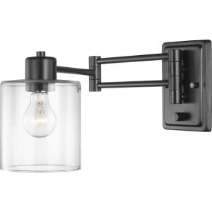 Milner - 9 Inch Height - Wall Brackets Light - 1 Light - Cylinder Shade - Line Voltage - Damp Rated