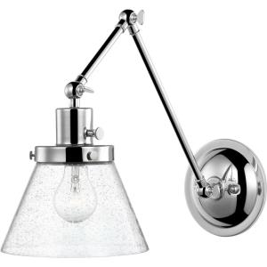 Hinton - Wall Brackets Light - 1 Light - Cone Shade in Coastal style - 8 Inches wide by 14.38 Inches high