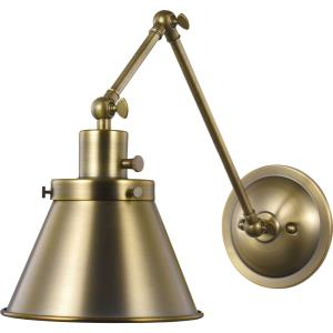Hinton - Wall Brackets Light - 1 Light - Cone Shade in Coastal style - 8.25 Inches wide by 14.38 Inches high