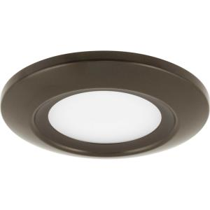 5.5 Inch 12W 1 LED Flush Mount in Modern style - 5.5 Inches wide by 0.75 Inches high