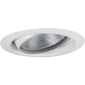 Recessed Trim - 6.375 Inch Width - 1 Light - Line Voltage - Damp Rated