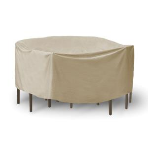 "80"" Round Table with Chairs Combo Cover with Umbrella Hole"