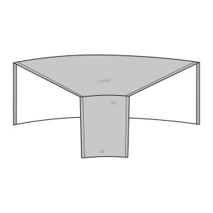 52 Inch Modular Sectional Wedge Cover