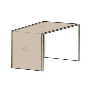 "40"" Modular Sectional Arm Less Center Cover"