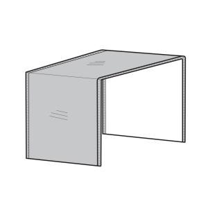 40 Inch Modular Sectional Arm Less Center Cover