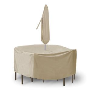 "92"" Round Bar Table and Chair Cover without Umbrella Hole"