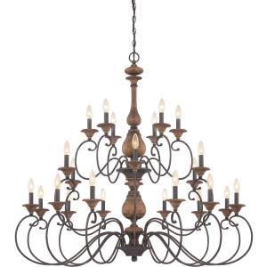 Auburn 2 Tier Chandelier 4 Light  Wood
