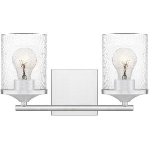 Abner - 2 Light Medium Bath Vanity in Transitional style - 14 Inches wide by 7.75 Inches high