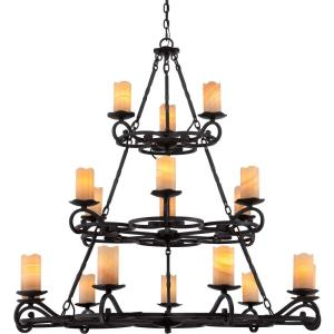 Armelle 3 Tier Chandelier 8 Light  Steel - 49 Inches high