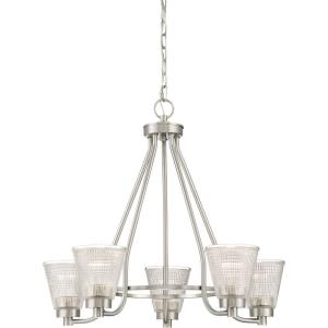 Ardmore Chandelier 5 Light  Steel - 22 Inches high