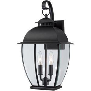 Bain 18 Inch Outdoor Wall Lantern Transitional Brass
