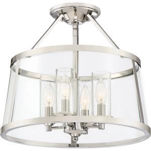 Barlow - 4 Light Semi-Flush Mount