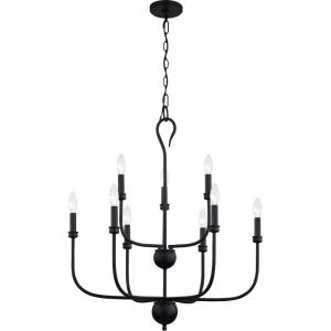 Blanche - 9 Light Chandelier in Transitional style - 27 Inches wide by 31.5 Inches high