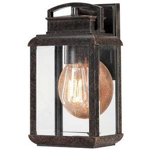 Byron 11.75 Inch Small Outdoor Wall Lantern Transitional Aluminum